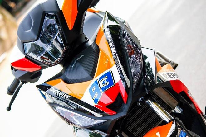 Honda Winner 150 son tem dau dan ao cua biker Bien Hoa hinh anh 4