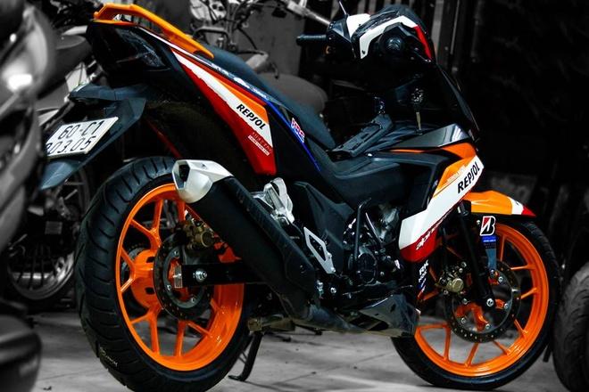 Honda Winner 150 son tem dau dan ao cua biker Bien Hoa hinh anh 5