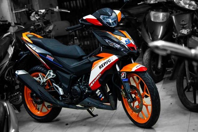 Honda Winner 150 son tem dau dan ao cua biker Bien Hoa hinh anh 6