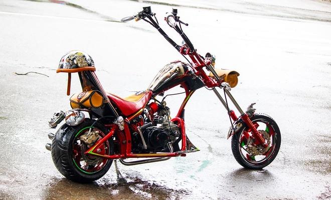 Moto 50 phan khoi do kieu dang chopper doc dao o Sai Gon hinh anh 1