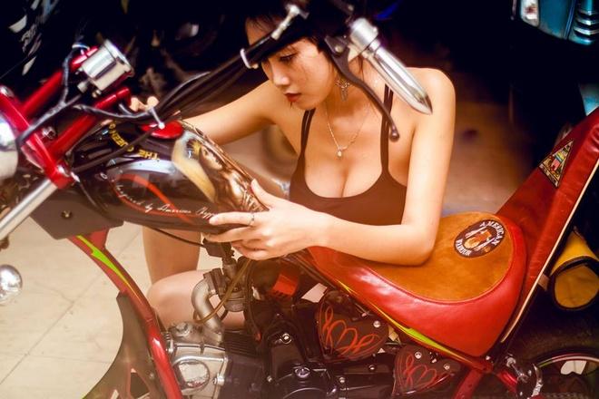 Moto 50 phan khoi do kieu dang chopper doc dao o Sai Gon hinh anh 5