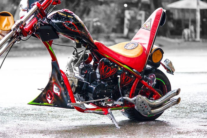 Moto 50 phan khoi do kieu dang chopper doc dao o Sai Gon hinh anh 4