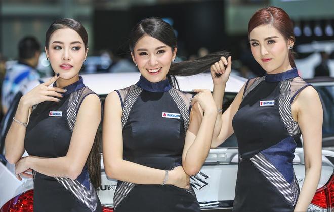 Nguoi dep khoe sac o trien lam Bangkok Motor Show 2017 hinh anh