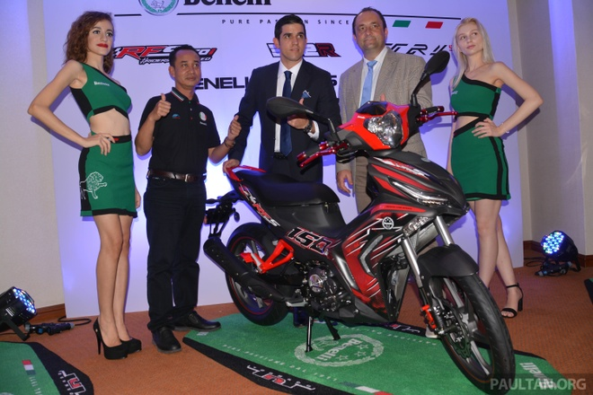 Benelli RFS150i 2017 ra mat o Malaysia anh 1