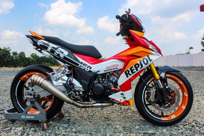 Honda Winner 150 do do choi khung cua biker Tay Ninh hinh anh
