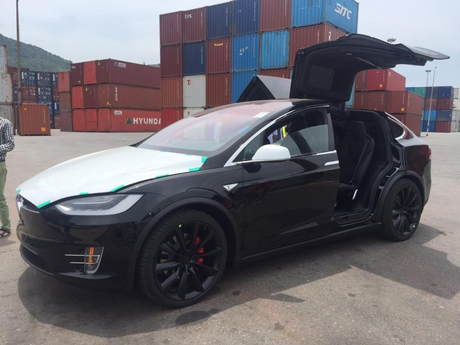Oto dien Tesla Model X dau tien ve Viet Nam hinh anh 1