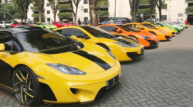 Bai do voi dan sieu xe cua dai gia Indonesia hinh anh 1
