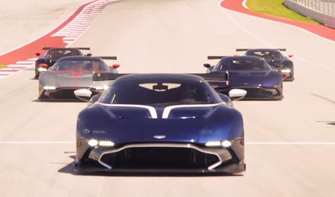 Dan Aston Martin Vulcan thu toc do o truong dua F1 hinh anh