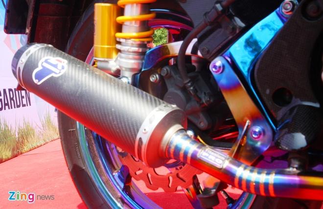 Honda SH do do choi hang hieu cua biker Sai Gon hinh anh 7