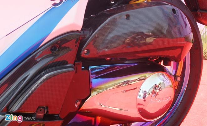 Honda SH do do choi hang hieu cua biker Sai Gon hinh anh 8