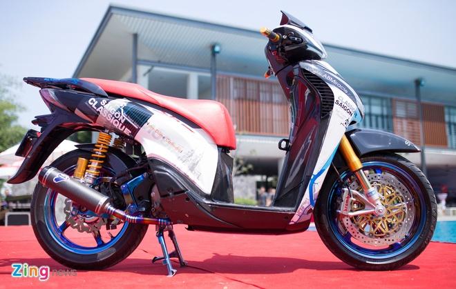 Honda SH do do choi hang hieu cua biker Sai Gon hinh anh 9