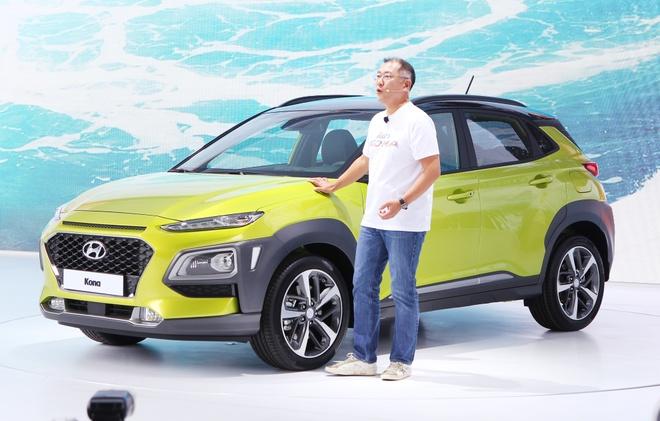 SUV co nho Hyundai Kona chinh thuc ra mat o Han Quoc hinh anh