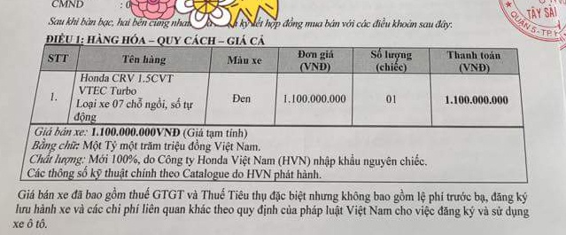 Honda CR-V 7 cho lo gia ban 1,1 ty dong o Viet Nam hinh anh 1