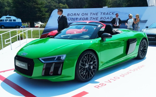 Audi R8 V10 Plus Spyder mau doc o le hoi sieu xe My hinh anh