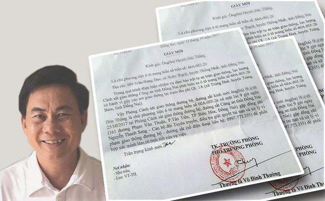 Bo Cong an yeu cau bao cao vu CSGT Dong Nai bi ky luat van thang chuc hinh anh