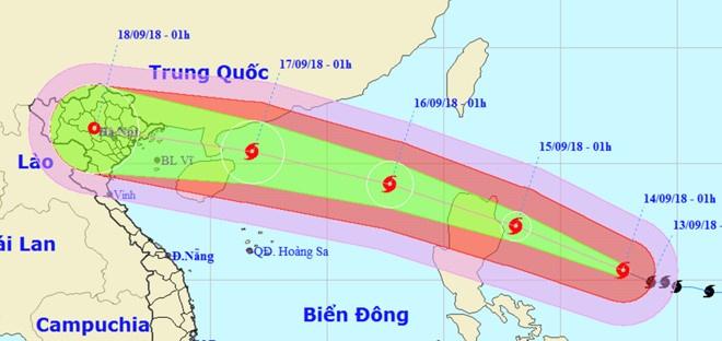 Ha Noi len ke hoach ung pho sieu bao Mangkhut hinh anh