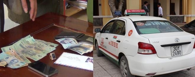 Bang cuop chuyen khong che lai xe taxi sa luoi hinh anh 2 Một số tài sản mà chúng cướp được.