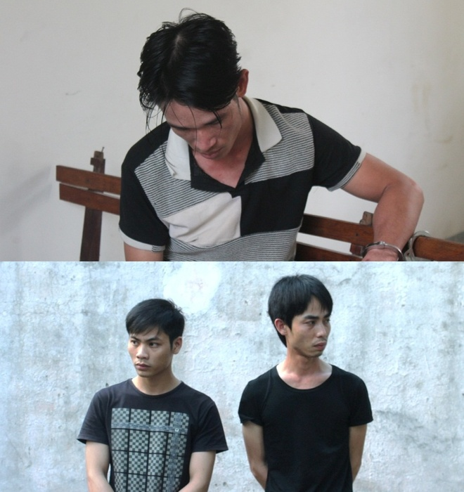 Bo 20 trieu thue nguoi chem doi thu tan phe hinh anh 1 Thái (ảnh trên), Huy và Tân (ảnh dưới) tại cơ quan điều tra.