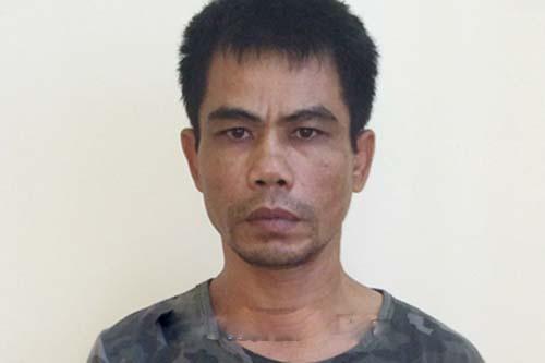 Bat giam ga trai ban trung dui canh sat hinh su hinh anh 1 Lê Đăng Thanh tại cơ quan điều tra. Ảnh: Báo Hà Tĩnh