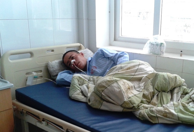 Hiện tại nghi can Tiến đang điều trị tại bệnh viện vì bị xuất huyết.