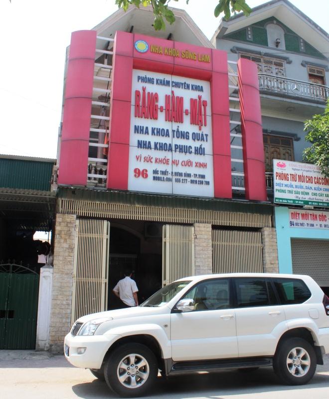 Giam doc so gia lam benh nhan kiem tra phong kham 'chui' hinh anh 1 Nha khoa Sông Lam dù không phép nhưng vẫn đang mở cửa hoạt động. Ảnh HP.