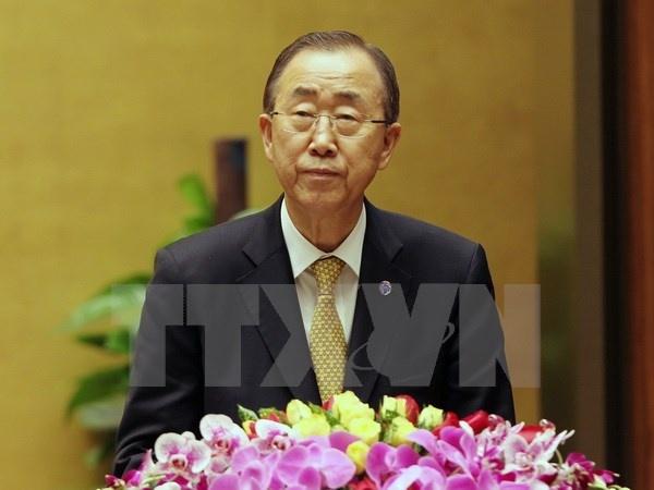 Tong thu ky Lien Hop Quoc Ban Ki Moon du ky hop quoc hoi VN hinh anh