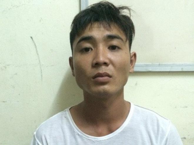 Trần Văn Giang tại cơ quan điều tra. Ảnh: Công an cung cấp.