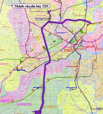 Hon 99.700 ty dong lam tuyen metro so 5 hinh anh 1 Sơ đồ hướng tuyến dự án tuyến metro số 5 của TP HCM.