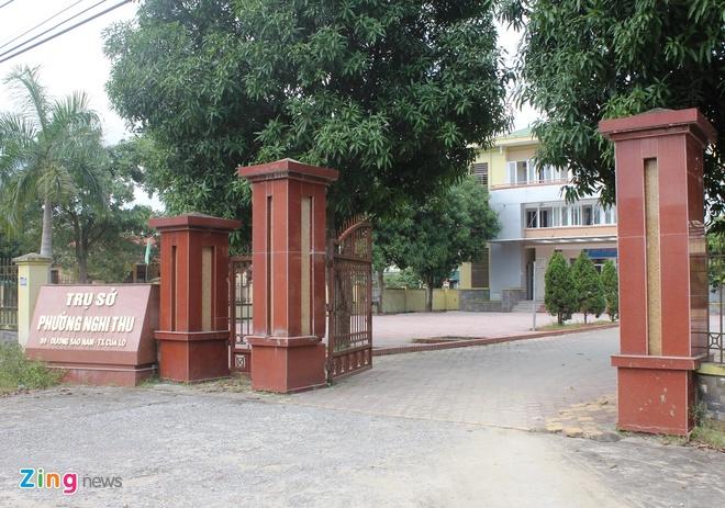 UBND phường Nghi Thu, nơi ông Tuân được điều động về làm Bí thư Đảng ủy phường. Ảnh: Phạm Hòa.