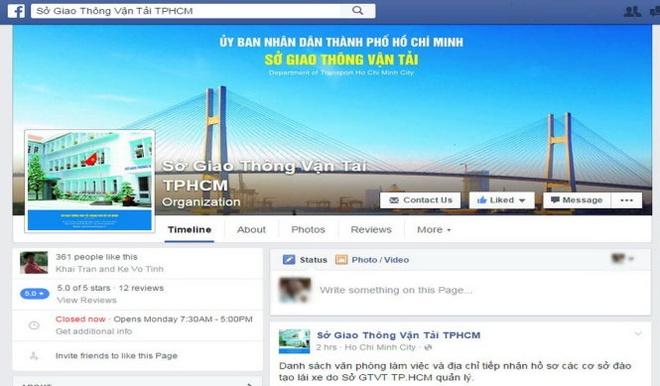 So GTVT TP HCM mo Facebook nhan gop y cua dan hinh anh 1
