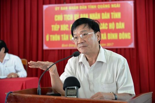 Chu tich UBND tinh Quang Ngai truc tiep xin loi dan hinh anh 2