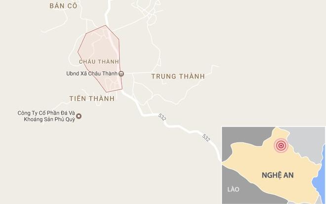 Xã Châu Thành, Huyện Quỳ Hợp - Nơi Xí Nghiệp Thiếc Suối Bắc Khai Thác Quặng  Thiếc. Ảnh: Google Maps.