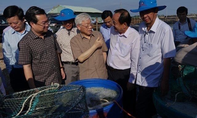 Tong bi thu, Chu tich nuoc Nguyen Phu Trong lam viec o tinh Kien Giang hinh anh 2