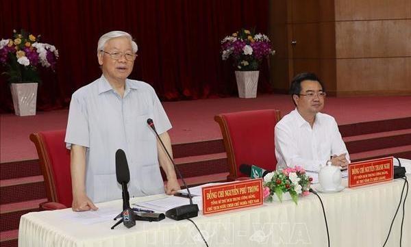 Tong bi thu, Chu tich nuoc Nguyen Phu Trong lam viec o tinh Kien Giang hinh anh 1