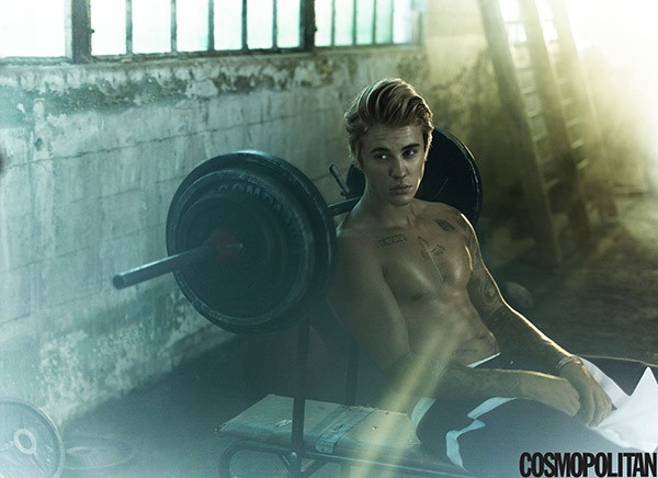 Justin Bieber khoe anh ban nude tren tap chi hinh anh