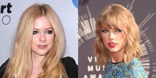 Avril Lavigne khau chien voi Taylor Swift hinh anh