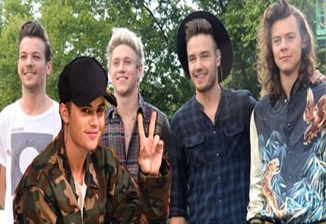 Justin Bieber pha vo ky luc am nhac cua One Direction hinh anh