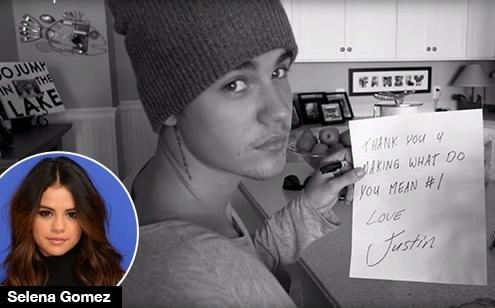 Selena khong bat ngo khi hit cua Justin Bieber pha ky luc hinh anh