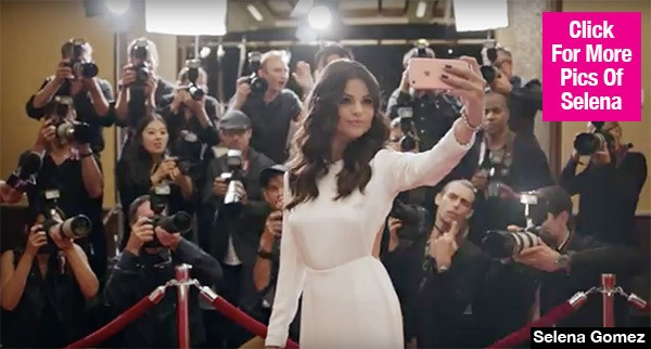 Selena Gomez xuat hien trong quang cao Iphone 6s hinh anh