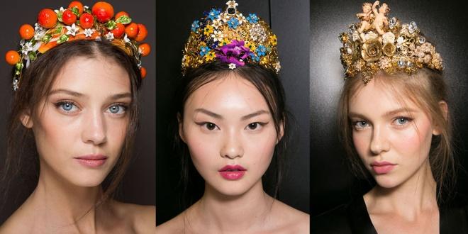 Phong cach trang diem an tuong o New York Fashion Week hinh anh 1