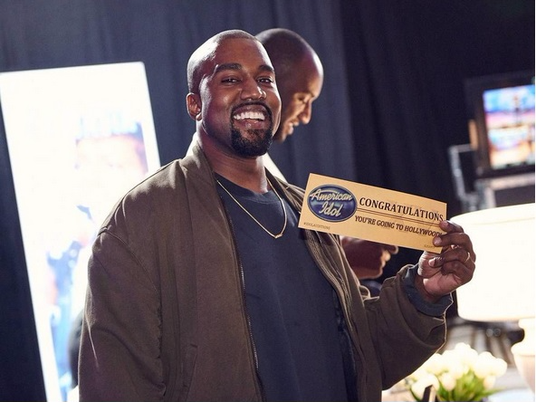 Kanye West tham gia vong thu giong American Idol mua cuoi hinh anh