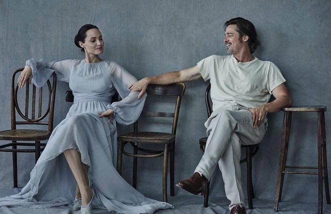 Brad Pitt va Angelina Jolie ngot ngao tren bia tap chi hinh anh 3