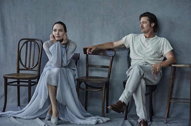 Brad Pitt va Angelina Jolie ngot ngao tren bia tap chi hinh anh 5