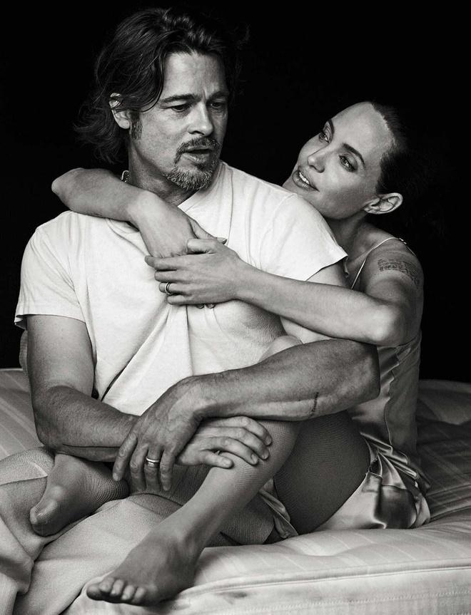 Brad Pitt va Angelina Jolie ngot ngao tren bia tap chi hinh anh 7