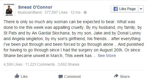 Ca si Sinead O'Connor may man thoat chet hinh anh 2