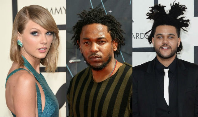Kendrick Lamar, Taylor Swift va Weeknd dan dau de cu Grammy hinh anh