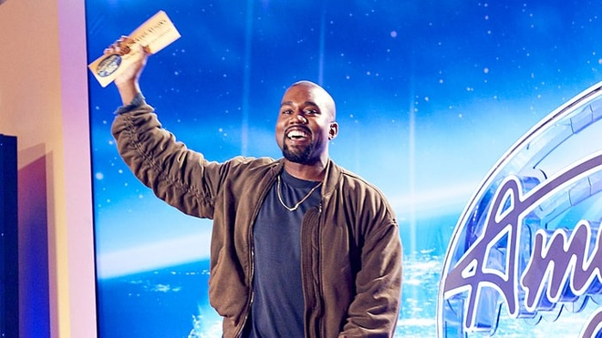 Kanye West gianh ve vang American Idol mua cuoi hinh anh