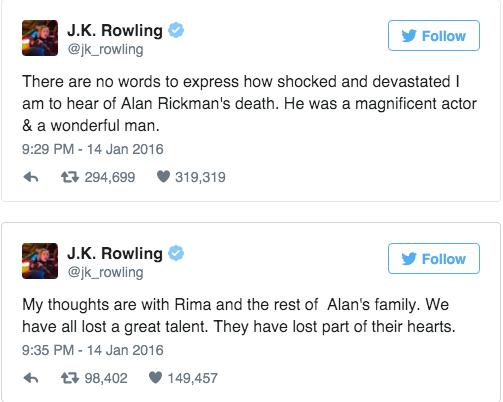 Dan sao 'Harry Potter' gui loi thuong tiec toi thay Snape hinh anh 1