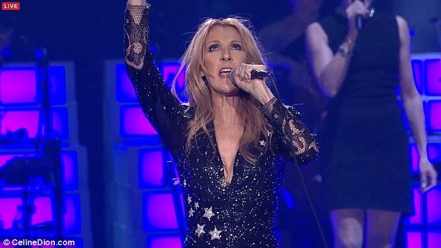Celine Dion oa khoc tren san khau Las Vegas khi hat ve chong hinh anh 1