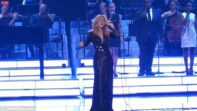 Celine Dion oa khoc tren san khau Las Vegas khi hat ve chong hinh anh 2